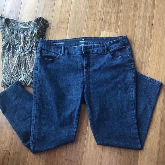 db05cc374f29f Liz Claiborne Denim - Liz Claiborne Ultimate Fit Slim Straight Leg Jeans